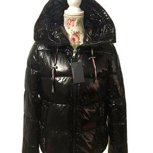 Tommy Hilfiger Quilted Hooded Shiny Puffer Jacket